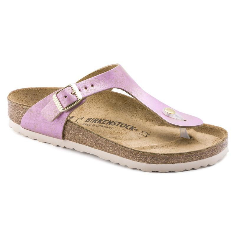 Birkenstock Women's Gizeh - Washed Metallic Pink (Regular Width) - 1012903 - Main Image