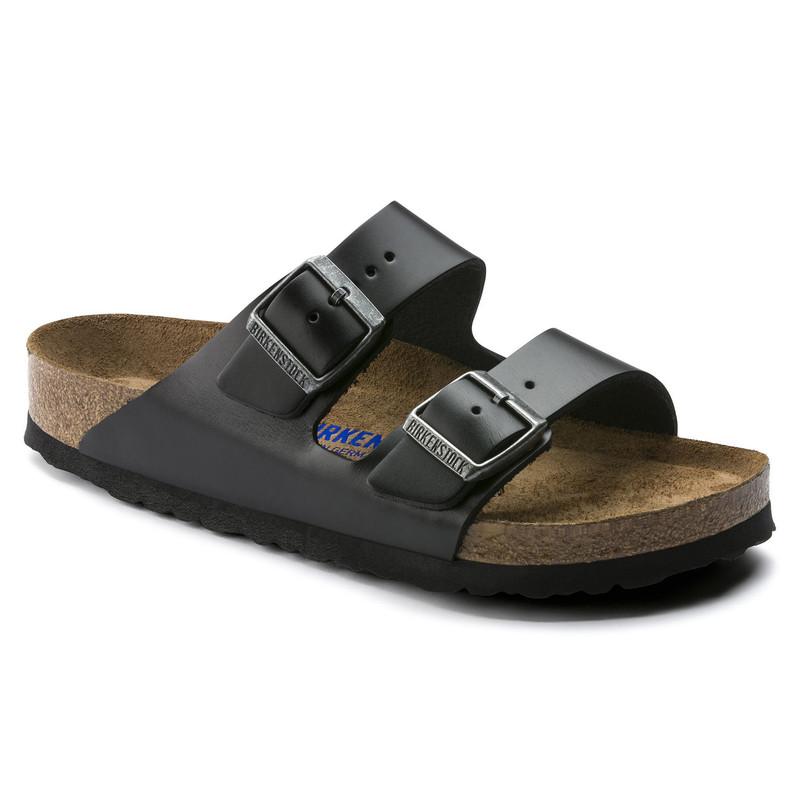Birkenstock Arizona Soft Footbed - Amalfi Black (Regular Width) - 552331 - Main