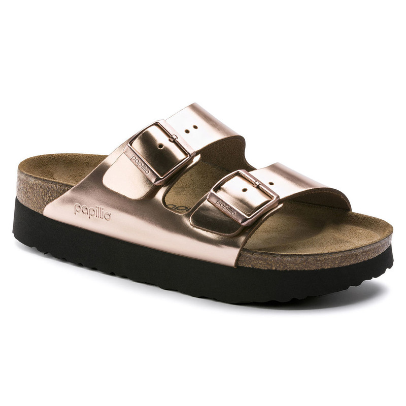 Birkenstock Arizona Platform Sandal - Copper Leather - 1013570 - Main Image