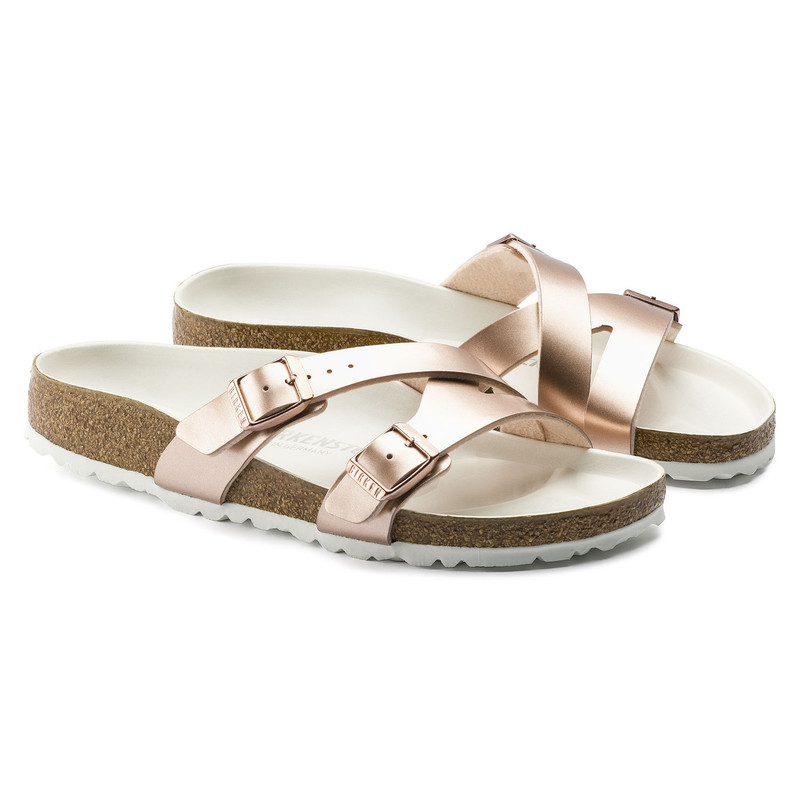 Birkenstock Women's Yao Lux Electric Metallic Copper (Narrow Width)