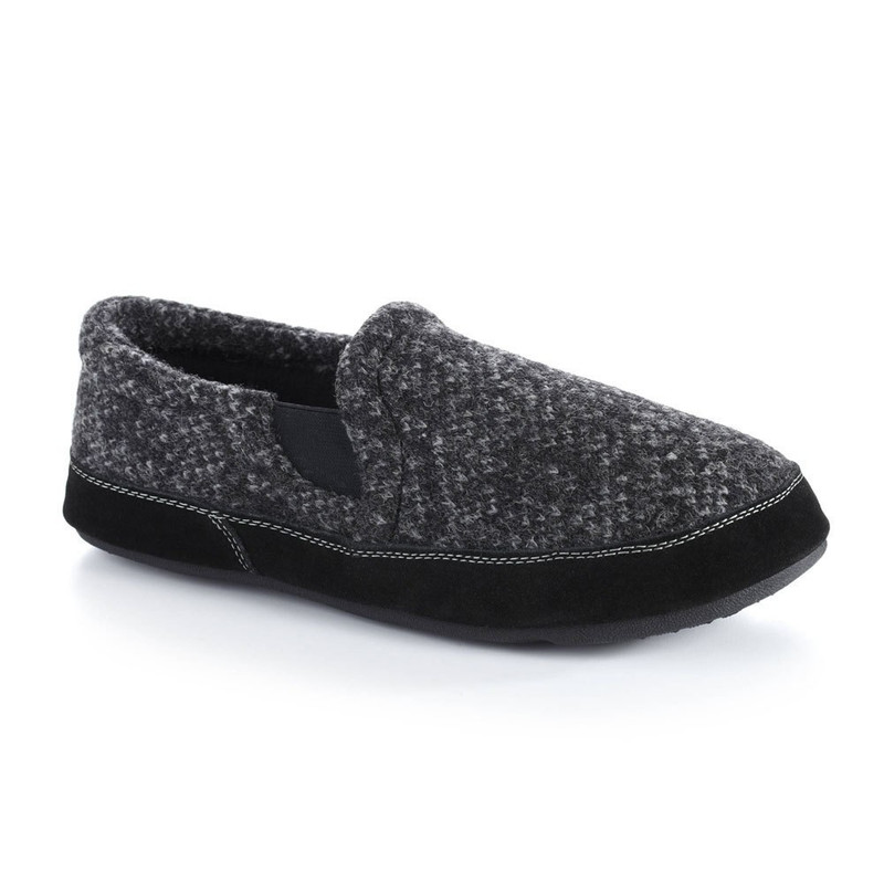 bd1b78e9d062 Acorn Men s Fave Gore Slipper Wide - Charcoal Tweed