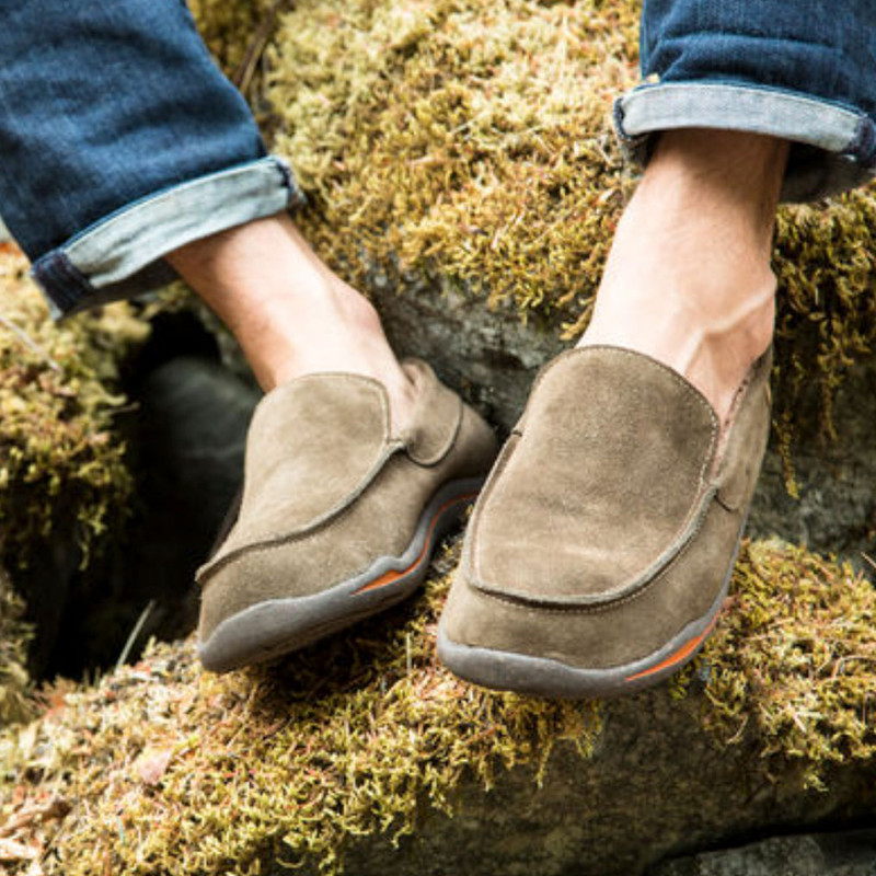 3fd89241f22 ... Men's Acorn Ellsworth Moc Slippers - Smokey Taupe - A18801SKT -  Lifestyle