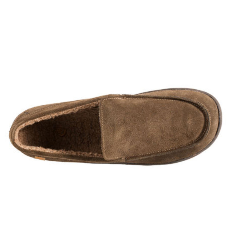 a7e65c914b1 ... Men's Acorn Ellsworth Moc Slippers - Smokey Taupe - A18801SKT - Aerial  ...