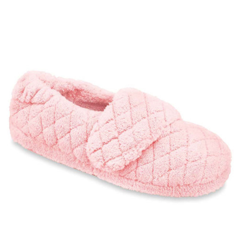 Acorn Women's Spa Wrap Slippers Wide - Pink - A10631AJU-WIDE - Angle