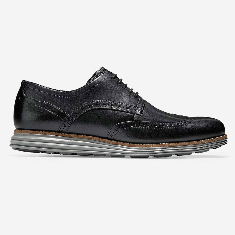 Cole Haan Men's Men's ØriginalGrand Wingtip Oxford - Black / Ironstone - C26470 - Profile