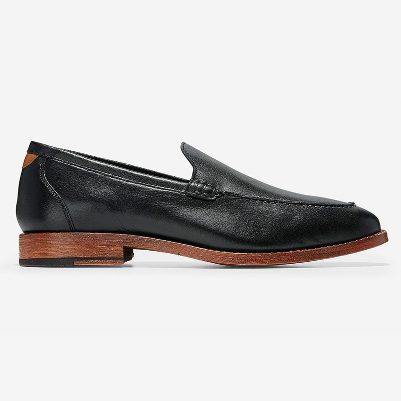 Cole Haan Men's Feathercraft Grand Venetian Loafer - Black - C29710 - Profile