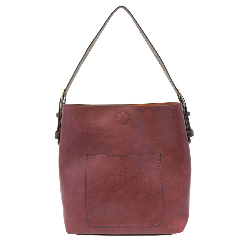 Joy Susan Classic Hobo Handbag - Merlot/Brown - L8008-530 - Profile