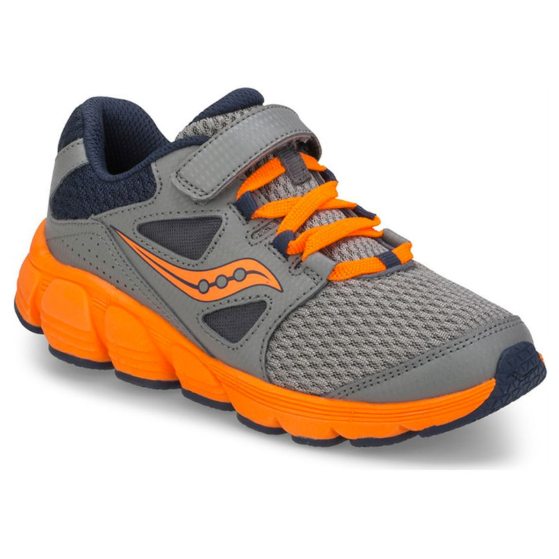 Saucony Little Kid's Kotaro 4 A/C Sneaker - Grey / Navy / Orange - SC59660 - main image