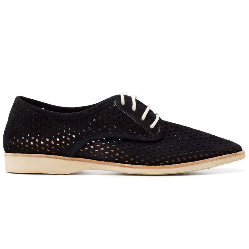 Rollie Women's Derby Punch - Black Nubuck (DERBYPUNCH/BLACK) -Main