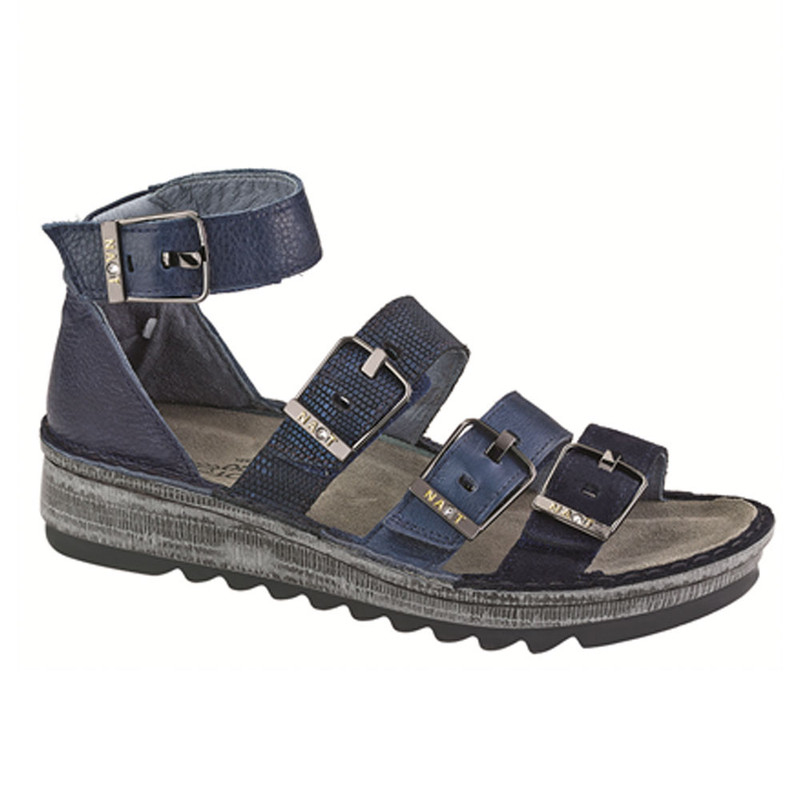 Naot Women's Begonia - Blue Velvet / Polar Sea Leather / Navy Reptile - 17102-PI7 - Angle