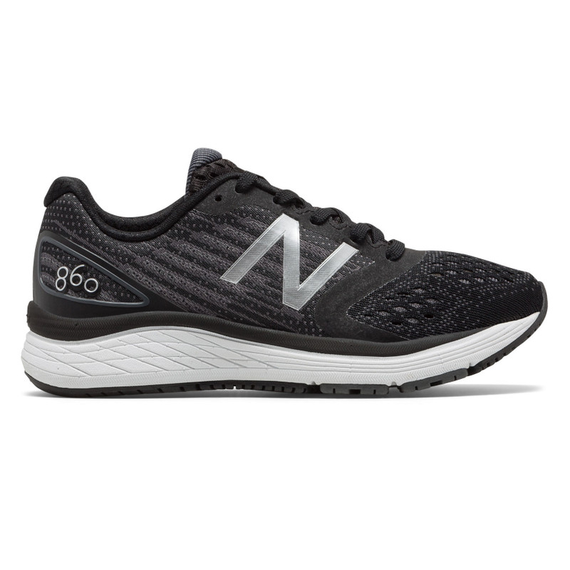 New Balance Kid's 860v9 Grade School Running - Black / White - KJ860TBY - Profile