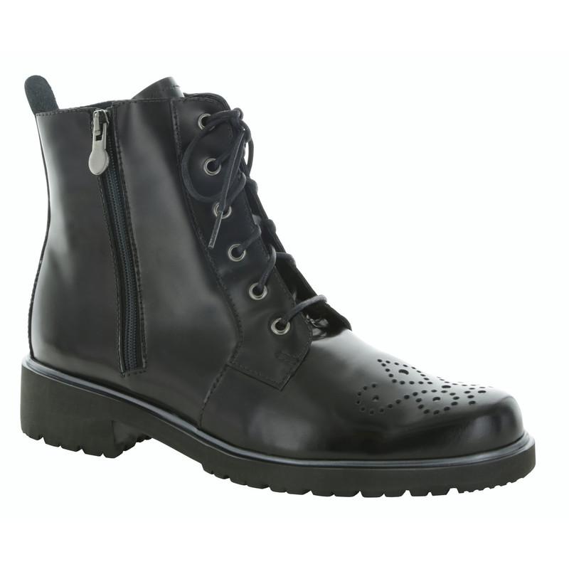 Munro Women's Sarah - Black Leather - M602581 - Angle