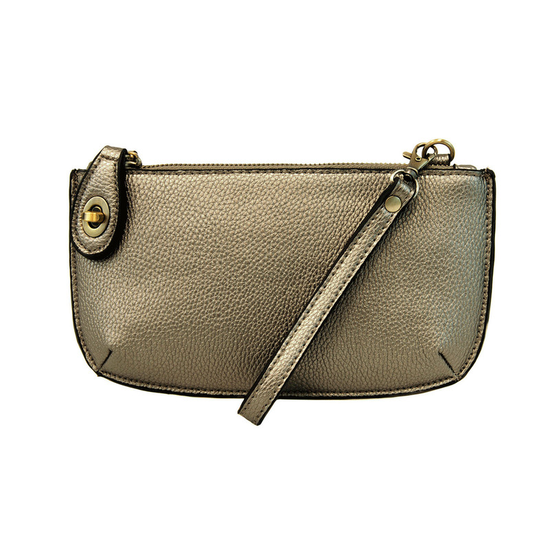 Joy Susan Mini Crossbody Wristlet Clutch - Metallic Green - L8000-81 - Profile