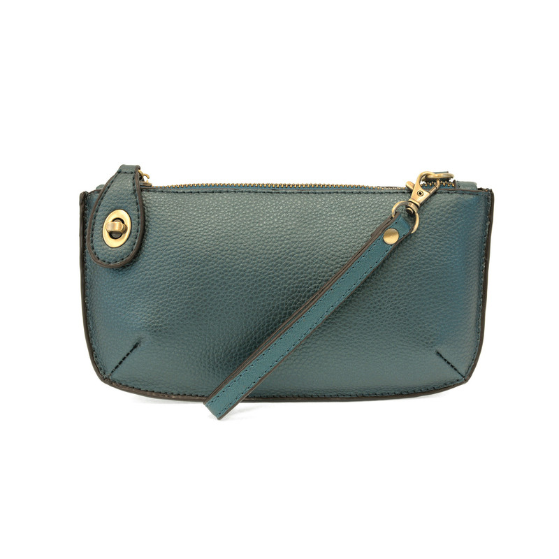 Joy Susan Mini Crossbody Wristlet Clutch - Metallic Turquoise - L8000-99 - Profile