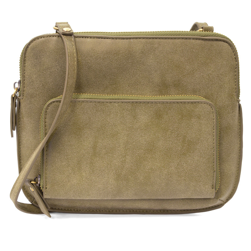 Joy Susan New Nicole Distressed Crossbody - Sage - L8029-38 - Profile