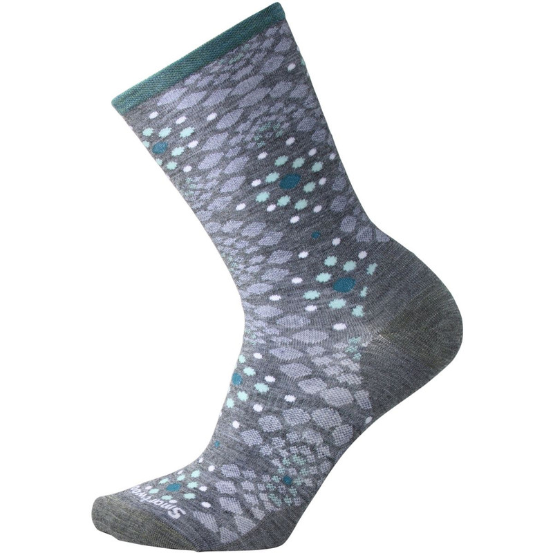 Smartwool Women's Pompeii Pebble Crew Socks - Medium Gray Heather - SW010415-084