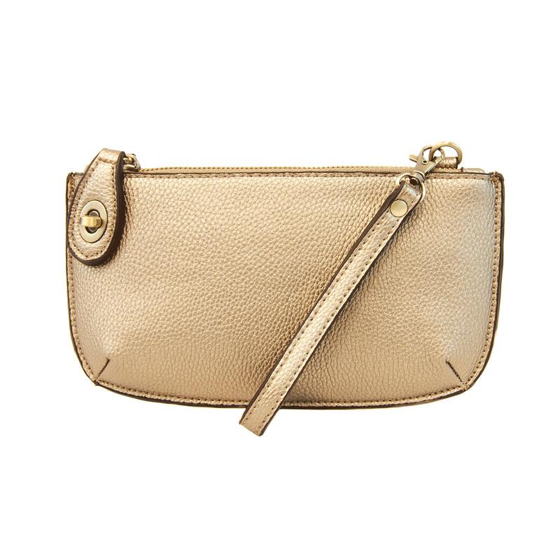Joy Susan Mini Crossbody Wristlet Clutch - Metallic Gold - L8000-35 - Profile