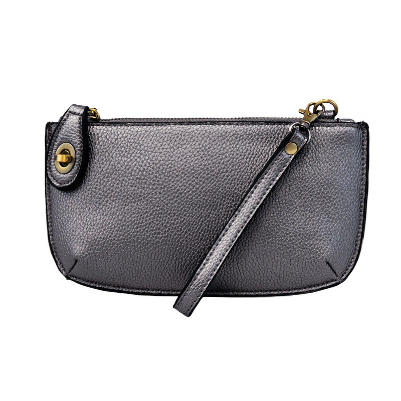 Joy Susan Mini Crossbody Wristlet Clutch - Metallic Blue - L8000-80 - Profile