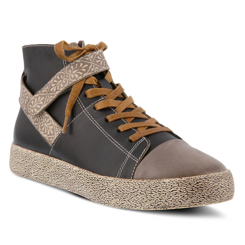 Spring Step Women's Ahitop Sneaker - Grey Multi - AHITOP/BRYM - Angle