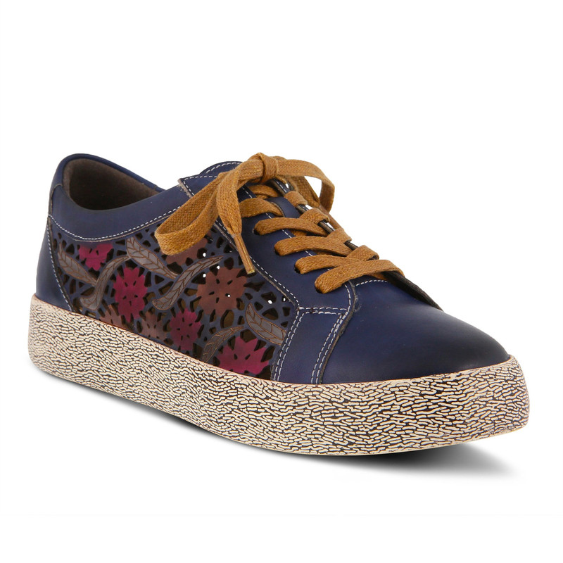Spring Step Women's Mea Sneaker - Blue - MEA-BLU - Angle