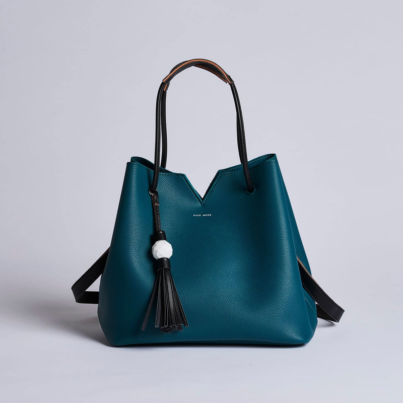Pixie Mood Jasmine Tote Bag - Dark Teal - Profile