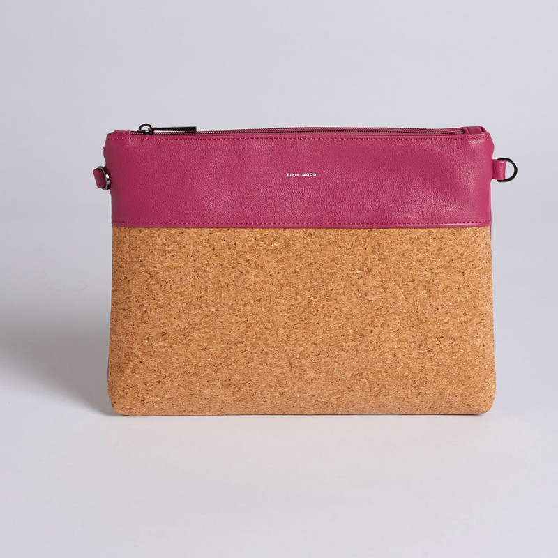 Pixie Mood Nicole Pouch Large - Red Bean - Profile