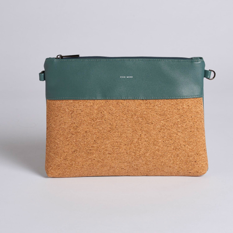 Pixie Mood Nicole Pouch Large - Spruce Green / Cork - Profile