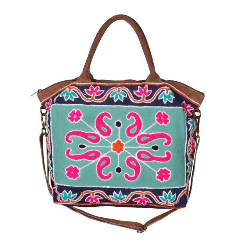 America & Beyond Moroccan Weekender Bag - Multi - Profile