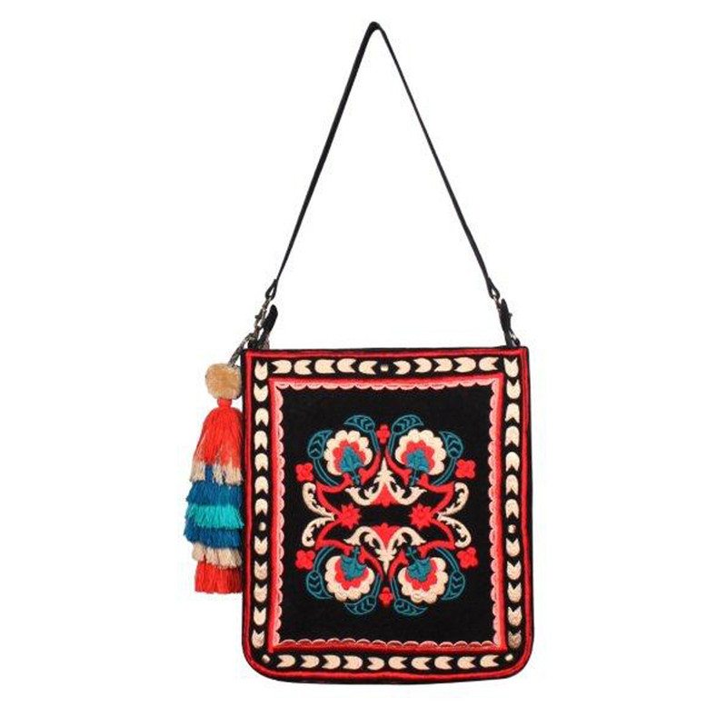 America & Beyond Thai Indo Tote - Red - Profile