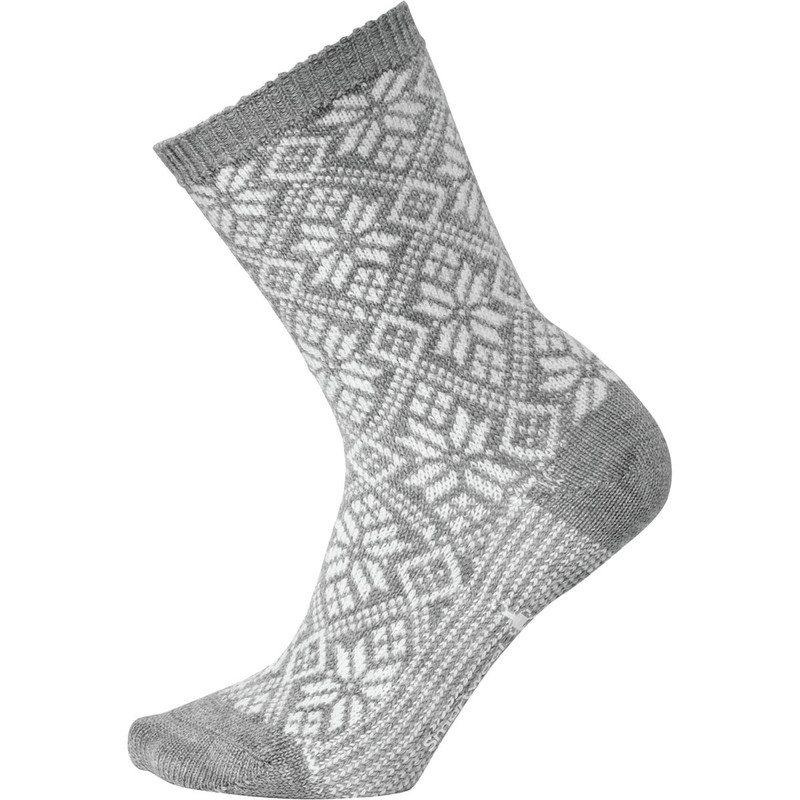 Smartwool Women's Traditional Snowflake Sock - Light Grey Heather
