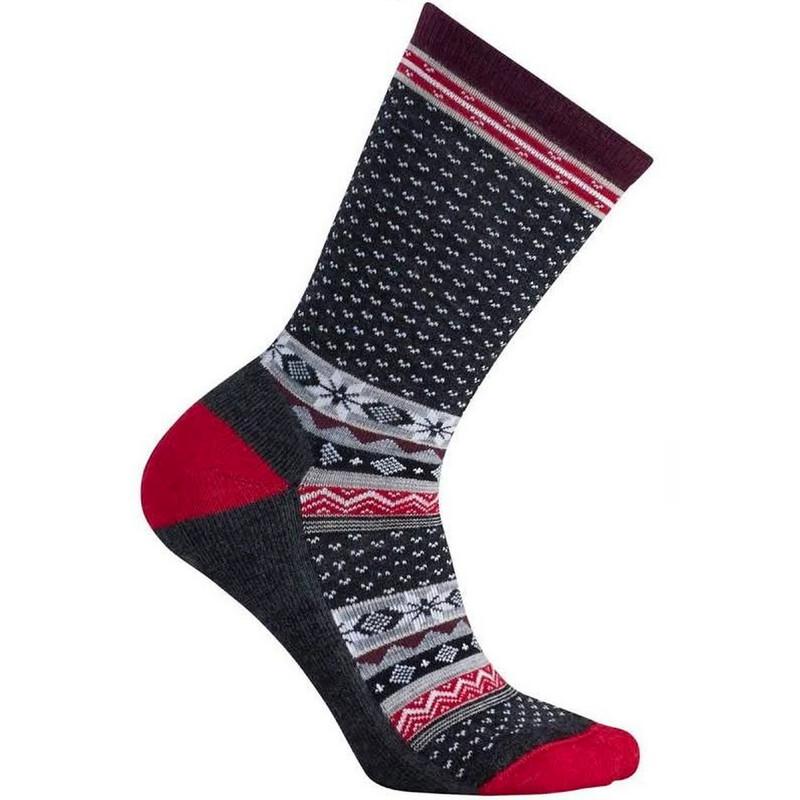Smartwool Women's Cozy Cabin Socks - Charcoal - SW048-010 - Profile