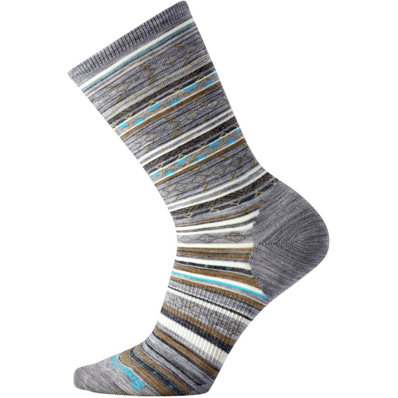 Smartwool Women's Ethno Graphic Crew Socks - Light Grey Heather - SW0SM627833 - Main