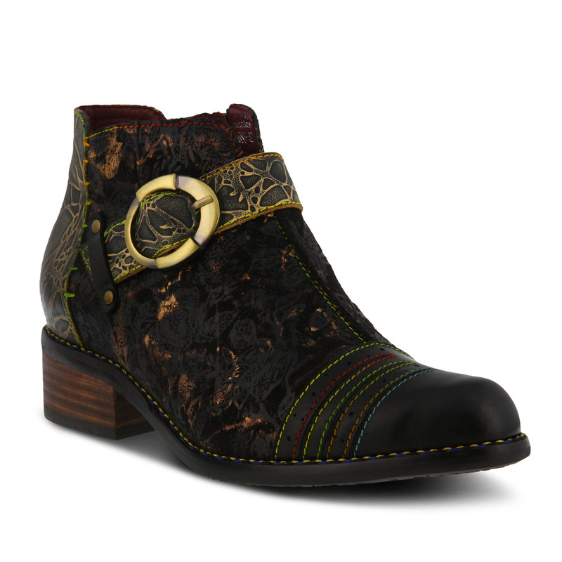 Spring Step Women's Georgiana Bootie - Black Multi - GEORGIANA-BM - Main Image