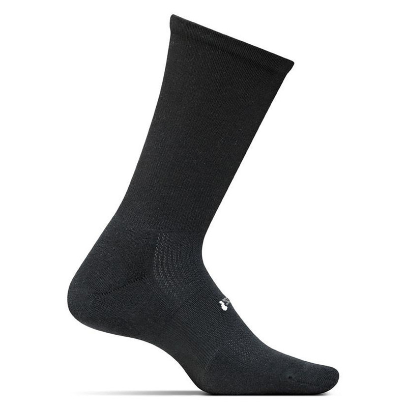 Feetures Cushion Crew Socks - Black - FA1001 - Main Image