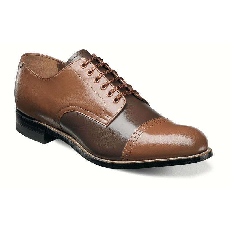 Stacy Adams Men's Madison Cap Toe Oxford - Oak Multi - 00012-234 - Angle