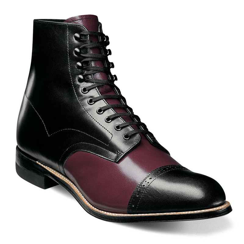 Stacy Adams Men's Madison Cap Toe Boot - Burgundy Multi - 00015-641 - Angle