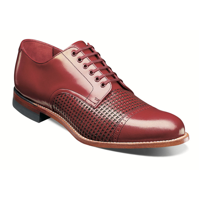 Stacy Adams Men's Madison Cap Toe Oxford - Red - 00905-600 - Angle