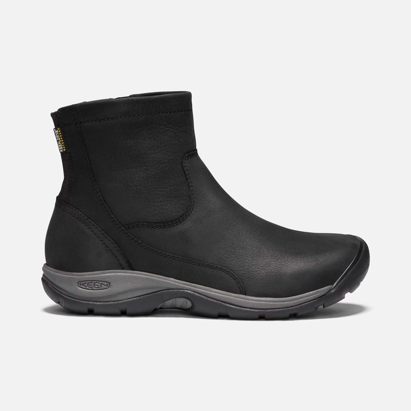 KEEN Women's Presidio II Waterproof Zip Boot - Black - 1019595 - Profile