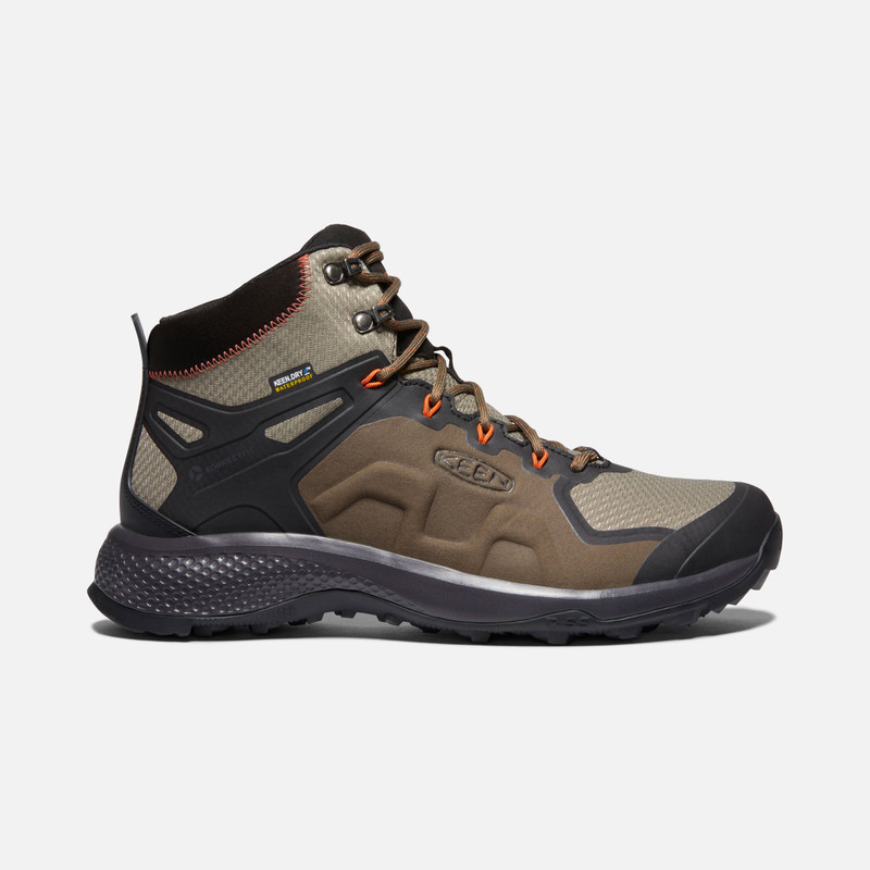 KEEN Men's Explore Waterproof Boot - Canteen / Brindle - 1021606 - Profile