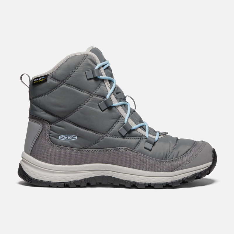 KEEN Women's Terradora Ankle Waterproof - Steel Grey / Paloma - 1021736 - Profile
