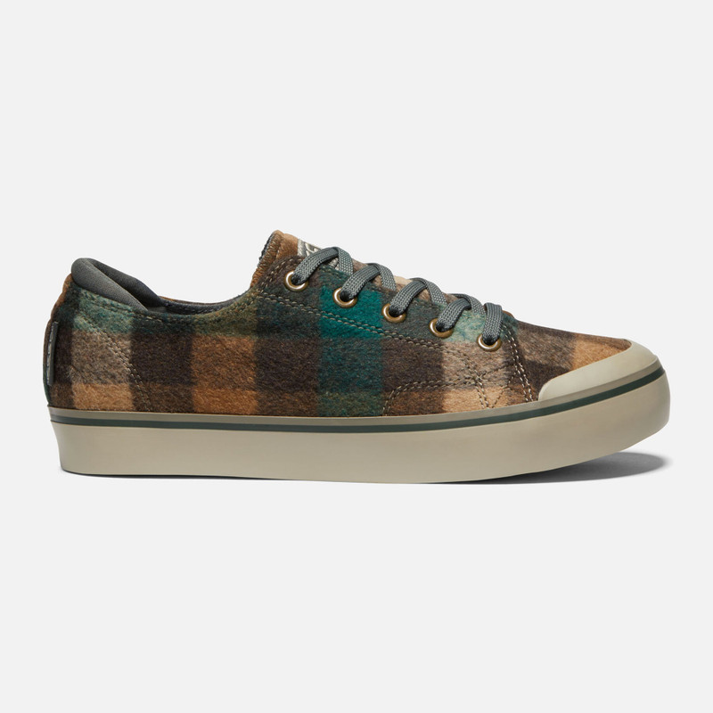 KEEN Women's Elsa III Sneaker - Brown Plaid / Climbing Ivy - 1021927 - Profile