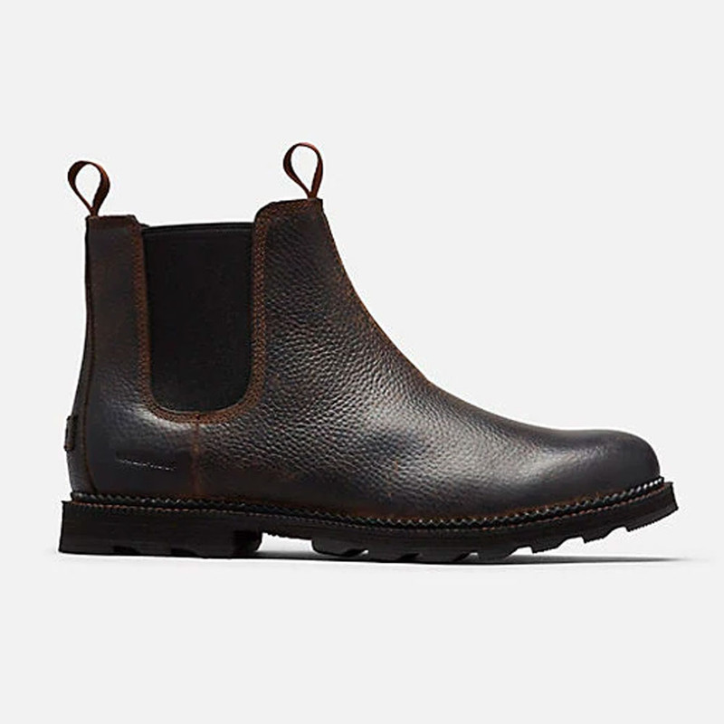 Sorel Men's Madson™ Chelsea WP Boot - Tobacco / Black - 1872001-256 - Profile