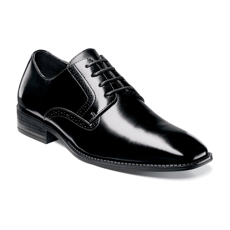 Stacy Adams Men's Ardell Plain Toe Oxford - Black - 20162-001 - Angle