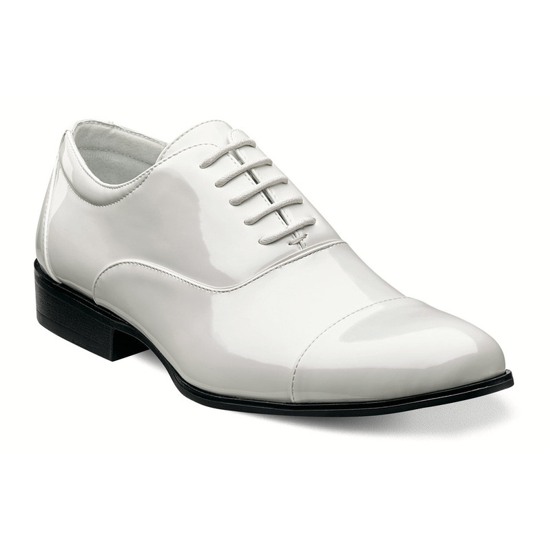 Stacy Adams Gala Cap Toe Oxford - White - 24998-122 - Angle