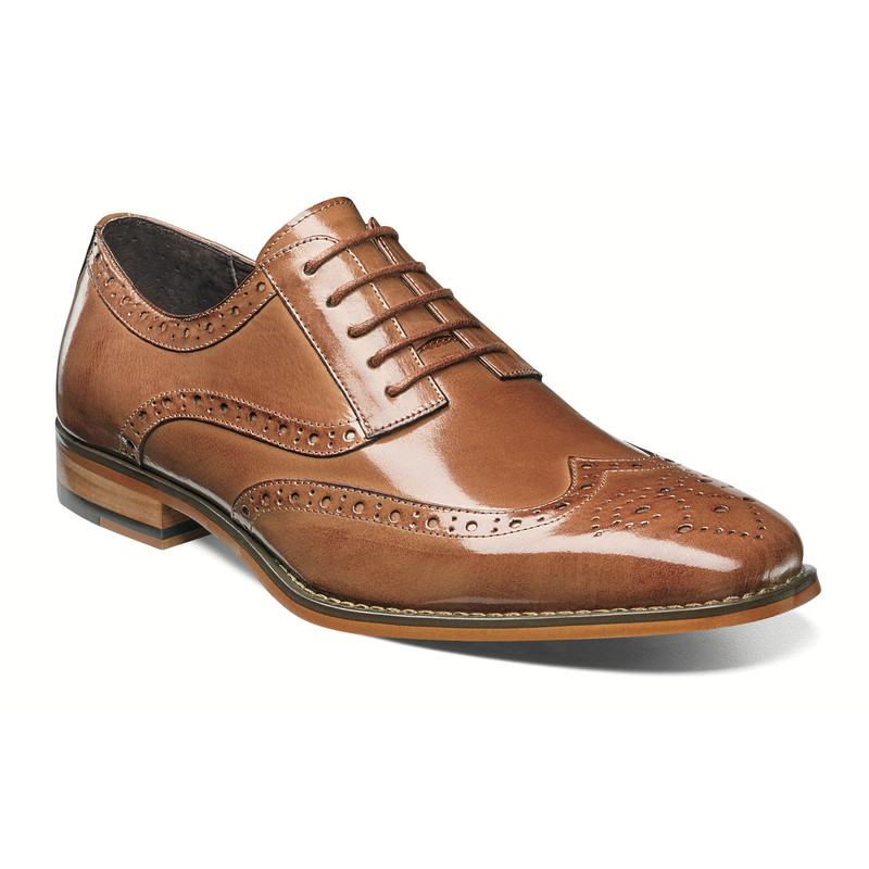 Stacy Adams Men's Tinsley Wingtip Oxford - Tan - 25092-240 - Angle