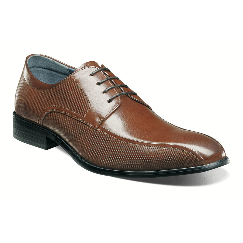 Stacy Adams Men's Julius Bike Toe Oxford - Cognac - 25148-221 - Angle