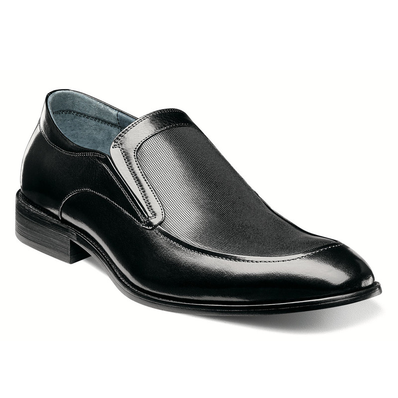 Stacy Adams Men's Jace Moc Toe Slip-On - Black - 25150-001 - Angle