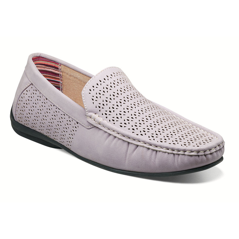Stacy Adams Men's Cicero Perfed Moc Toe Slip-On - Lavender - 25172-530 - Angle
