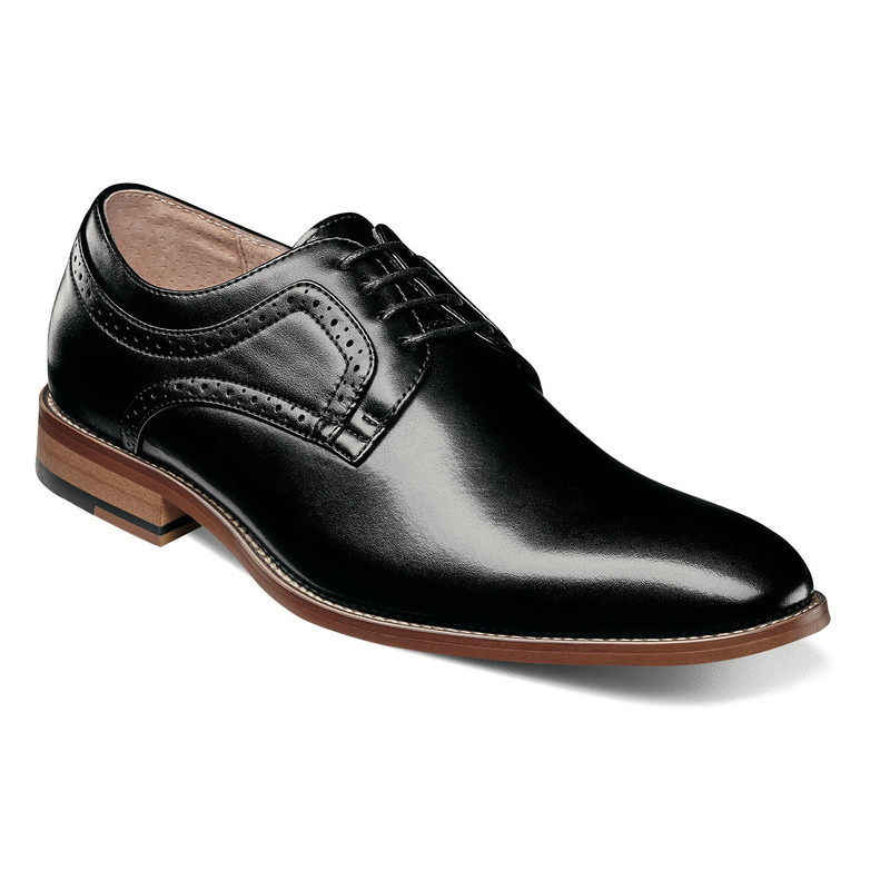 Stacy Adams Men's Dickens Plain Toe Oxford - Black - 25231-001 - Angle