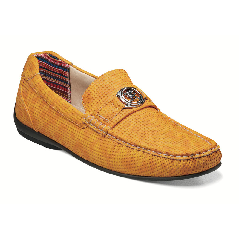 Stacy Adams Men's Cyd Moc Toe Bit Slip-On - Saffron - 25264-703 - Angle